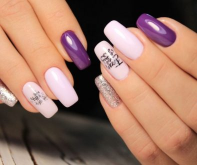 A hand model showing her Japanese gel nails.